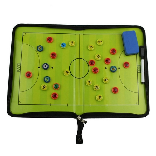 Magnetic board with a clasp